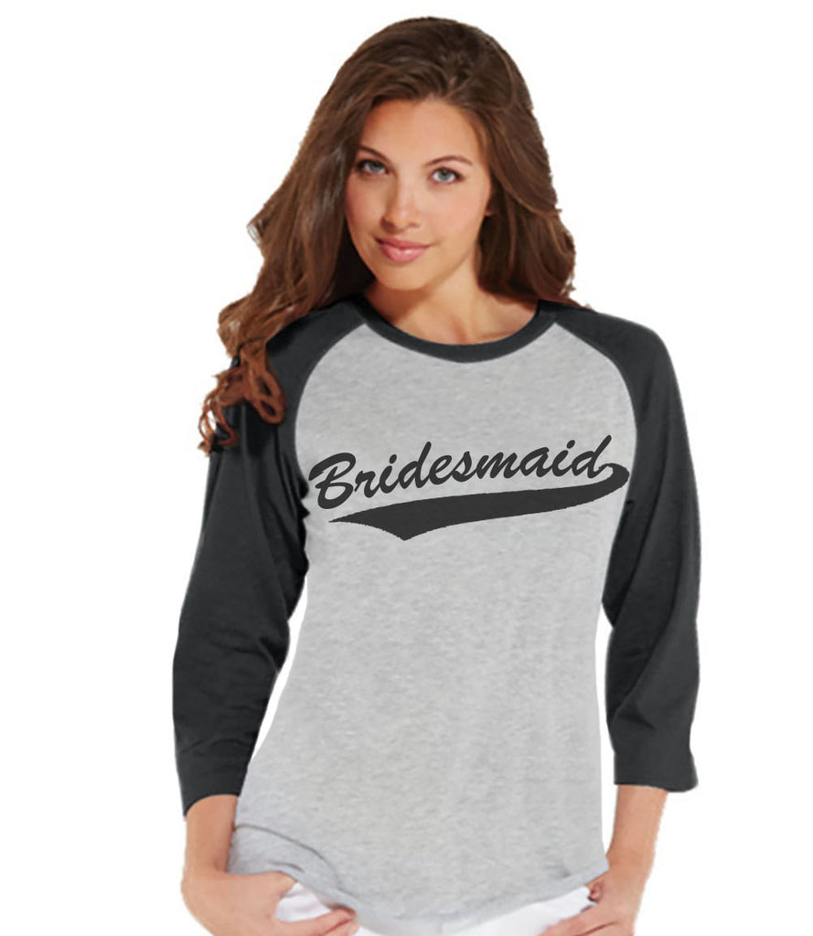 Bridesmaid Baseball Shirts - Bridesmaid Shirt - Wedding T-shirt - Grey Raglan Tee - Bachelorette Top - Bridal Party - Final Fling - 7 ate 9 Apparel