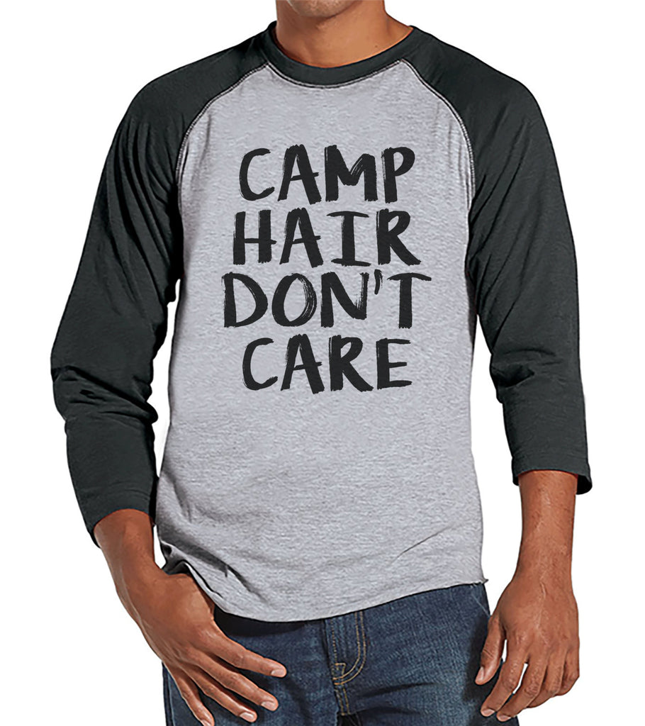 Camp Hair Dont Care Shirt for Happy Outdoorsy Camper Sweatshirt