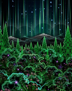 Biosynthebliss: Psychedelic Art of an Electric Forest