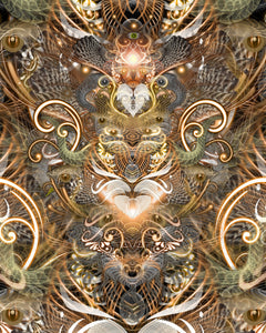 Natural Affinity:: A Trippy Collage of Psychedelic Animal Faces