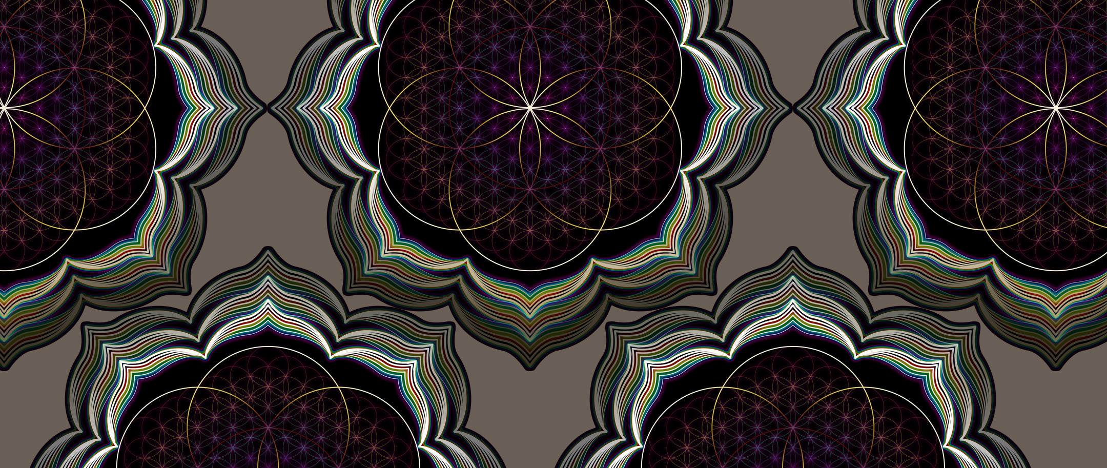 Celestial Bloom: Psychedelic Art inspired by the Sacred
