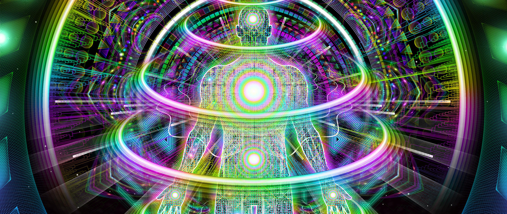 Launch Pad: Psychedelic Art depicting our Energy Body