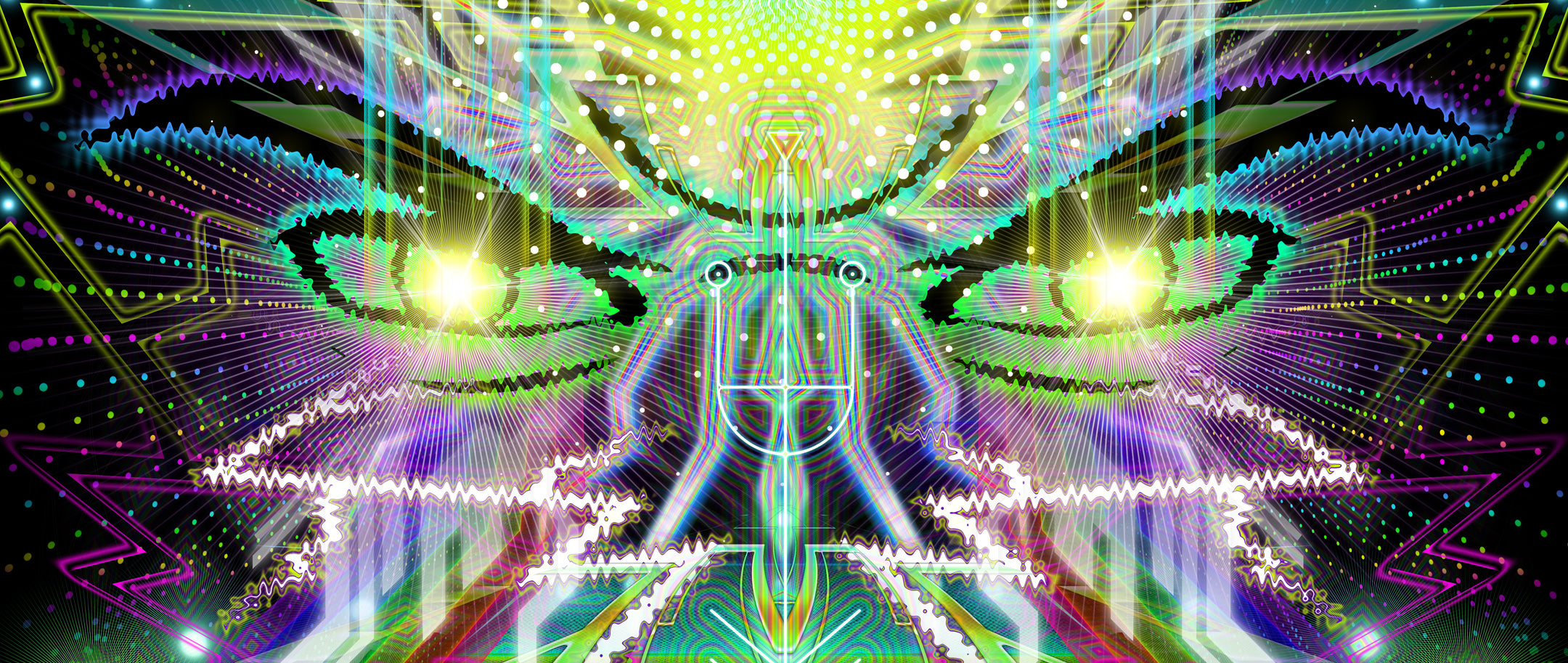 Psychodelic: Psychedelic Art inspired by a Powerful Vibrational Entity