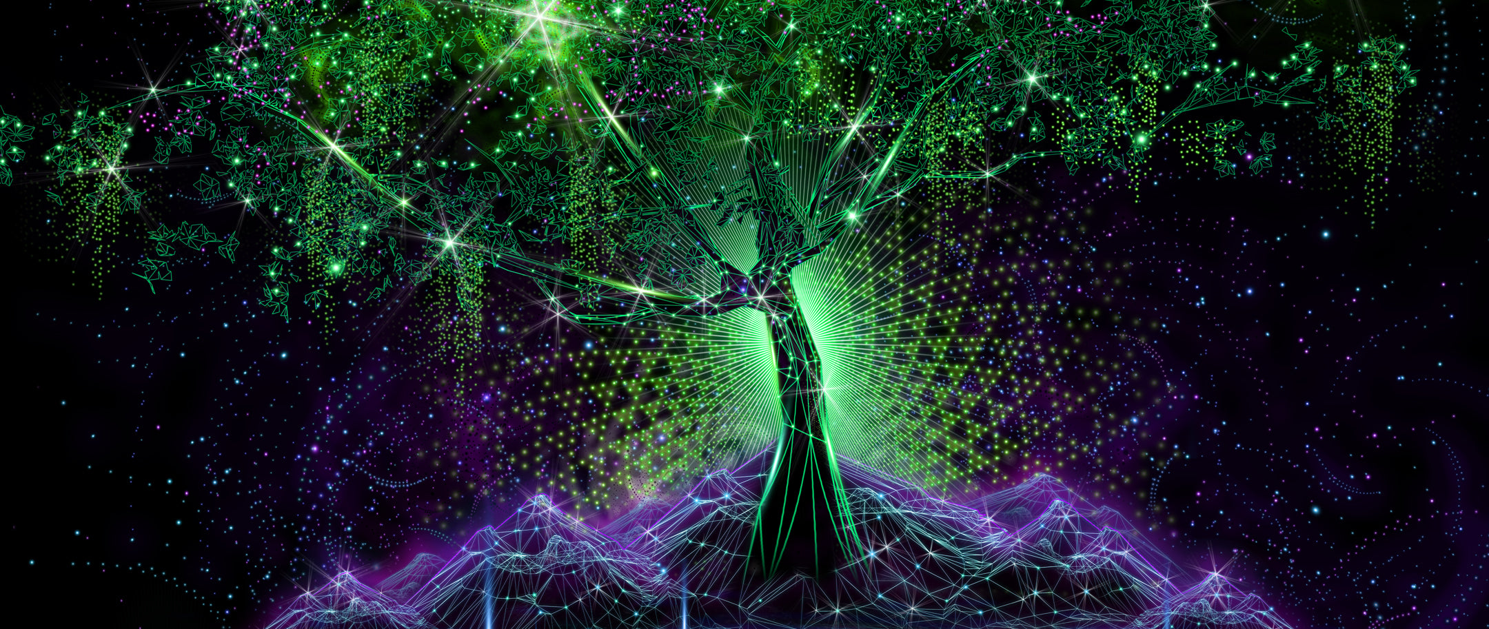 Tree of Life: Psychedelic Art inspired by the fabled: Kalpavriksha