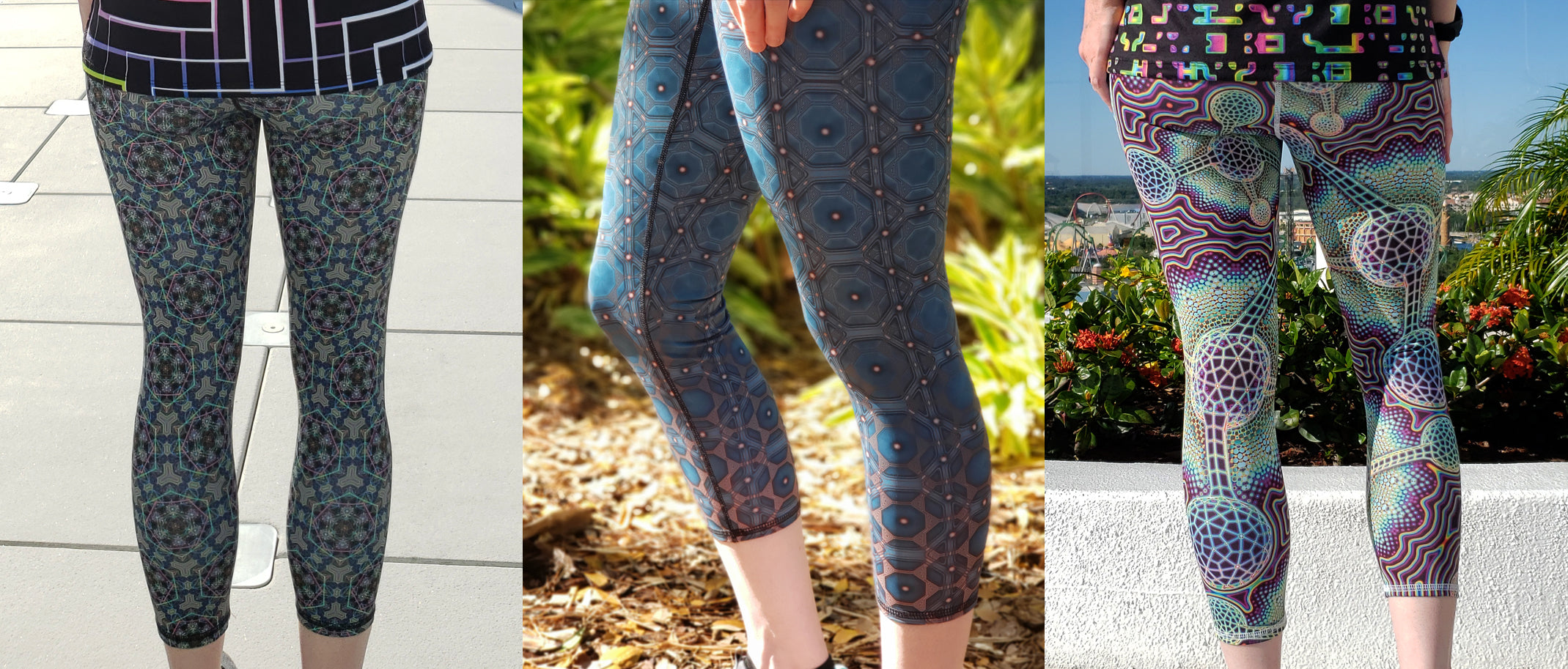 High-End Psychedelic Crop Leggings