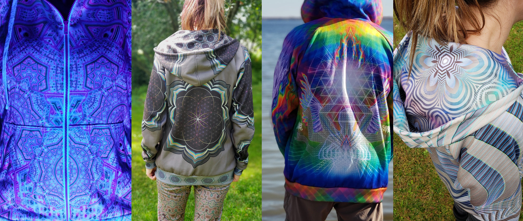 Psychedelic Hoodies (UV Reactive) by Tetramode | Modern Psy Fashion