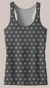 Frequencies :: Tetrahedron Women's Racerback Tank Top - Tetramode® | Psy Styles. Men & Womens Psychedelic Tops & Bottoms