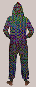 Psylingual Hooded Younique Onesie - Tetramode® | Psy Styles. Men & Womens Psychedelic Tops & Bottoms