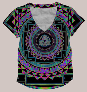 Psy Yantra Women's All-Over print Shirt - Tetramode® | Psy Styles. Men & Womens Psychedelic Tops & Bottoms