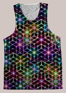 Mens Tank Top, Alexander Shulgin, 2CB, Psychedelic, Rainbow, Trippy, Psychonaut, EDM, Electric Daisy Carnival, Music Festivals