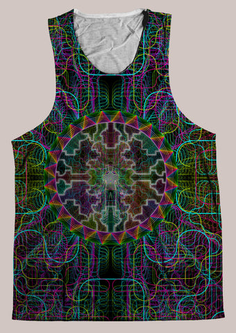 Shaman Song : Mens // HELIOS TANK TOP - Tetramode® | Psy Styles. Men & Womens Psychedelic Tops & Bottoms