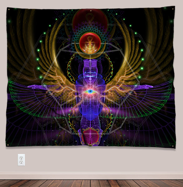 Yazata Psychedelic UV-Reactive Tapestry (60x50in)