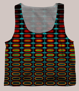 Optika Psychedelic Graphic Print Crop Top