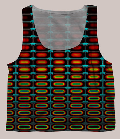 Optika Crop Top - Tetramode® | Psy Styles. Men & Womens Psychedelic Tops & Bottoms