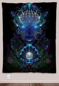 Yemoja Psychedelic UV-Reactive Tapestry (60x80in) - Tetramode® | Psy Styles. Men & Womens Psychedelic Tops & Bottoms