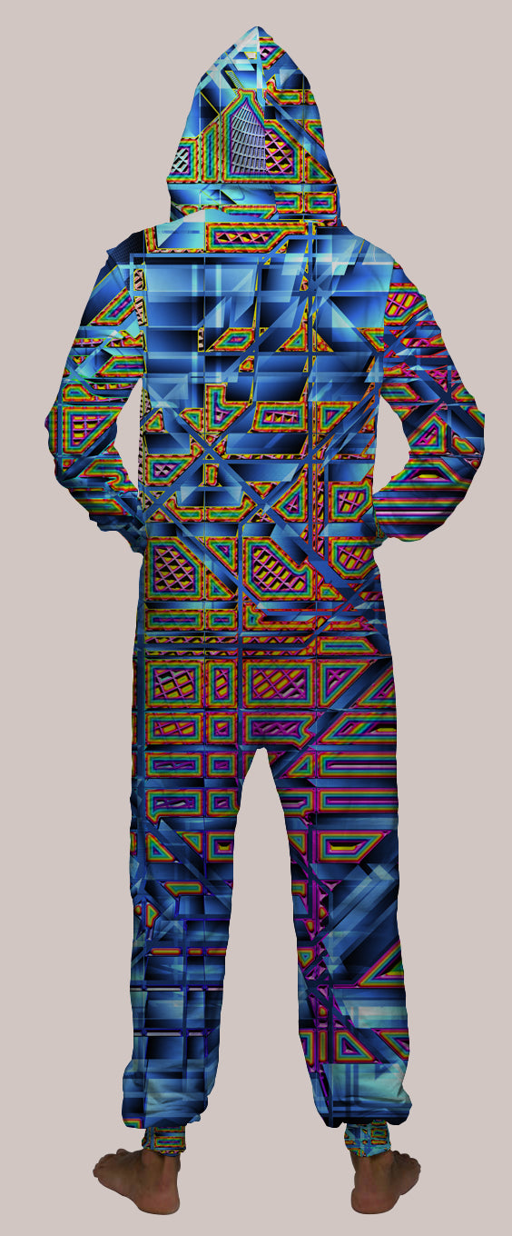Parallyx Hooded Younique Onesie - Tetramode® | Psy Styles. Men & Womens Psychedelic Tops & Bottoms