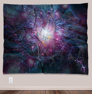 Twin Flames Psychedelic UV-Reactive Tapestry (60x50in) - Tetramode® | Psy Styles. Men & Womens Psychedelic Tops & Bottoms