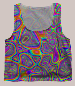 Psychedelic Patterned Crop Top - Metamorphosis