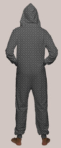 Thumbprint Hooded Younique Onesie - Tetramode® | Psy Styles. Men & Womens Psychedelic Tops & Bottoms
