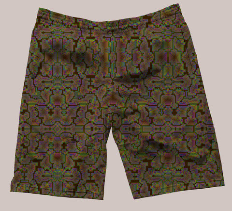 Techno Shamanic Festi-Go Shorts (6 Colors) - Tetramode® | Psy Styles. Men & Womens Psychedelic Tops & Bottoms