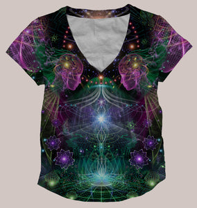 Holobloom Women's All-Over print Shirt - Tetramode® | Psy Styles. Men & Womens Psychedelic Tops & Bottoms