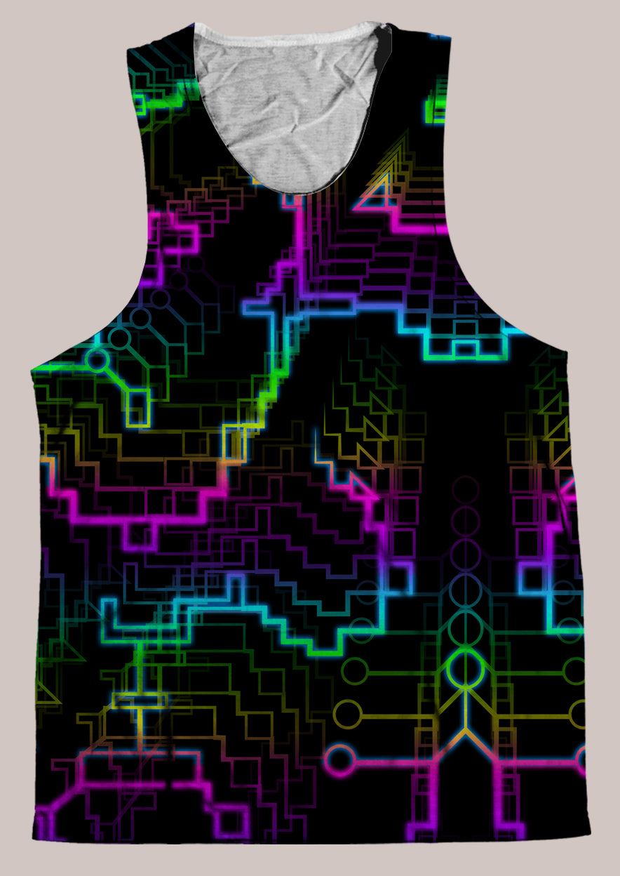 Techno Shamanic RGB : Mens // HELIOS TANK TOP - Tetramode® | Psy Styles. Men & Womens Psychedelic Tops & Bottoms