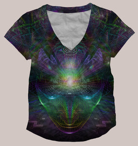 Sanctuary :: Psychedelic Women's All-Over Print Shirt - Tetramode® | Psy Styles. Men & Womens Psychedelic Tops & Bottoms