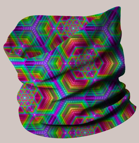 Hexafun Neo-Scarf - Tetramode® | Psy Styles. Men & Womens Psychedelic Tops & Bottoms
