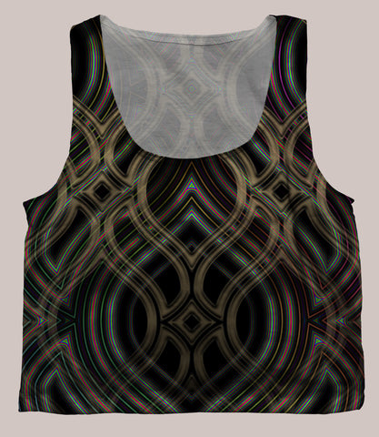 Ethos Crop Top - Tetramode® | Psy Styles. Men & Womens Psychedelic Tops & Bottoms
