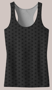 Frequencies :: Seed Women's Racerback Tank Top - Tetramode® | Psy Styles. Men & Womens Psychedelic Tops & Bottoms