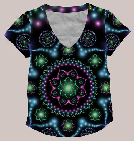 Lumindala Women's All-Over print Shirt - Tetramode® | Psy Styles. Men & Womens Psychedelic Tops & Bottoms