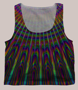 Radiance Psychedelic Graphic Print Crop Top