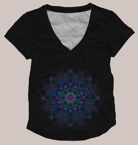 Bubble Flower Women's Signature Shirt - Tetramode® | Psy Styles. Men & Womens Psychedelic Tops & Bottoms