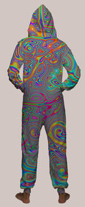 Liquisyrgic Hooded Younique Onesie - Tetramode® | Psy Styles. Men & Womens Psychedelic Tops & Bottoms