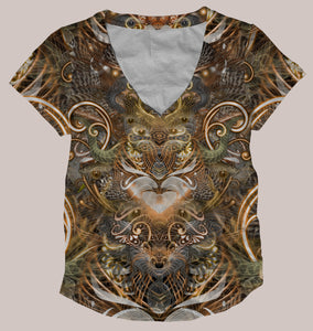 Natural Affinity Women's All-Over print Shirt - Tetramode® | Psy Styles. Men & Womens Psychedelic Tops & Bottoms