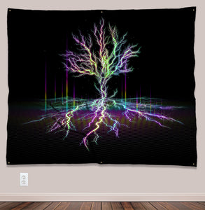 Electreecity of Life Psychedelic UV-Reactive Tapestry (60x50in) - Tetramode® | Psy Styles. Men & Womens Psychedelic Tops & Bottoms