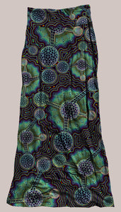 Psychedelic Molecule Green Rainbow Breathable & Flowy Microverse Synergy Skirt