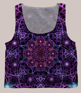 Nucleus Psychedelic Graphic Print Crop Top