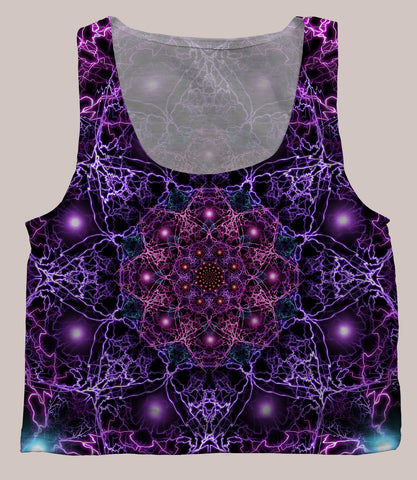 Nucleus Crop Top - Tetramode® | Psy Styles. Men & Womens Psychedelic Tops & Bottoms