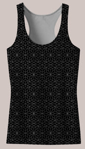 Frequencies :: Crystallize Women's Racerback Tank Top - Tetramode® | Psy Styles. Men & Womens Psychedelic Tops & Bottoms
