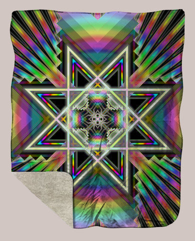 Portal ◊ Sherpa Retreat Blanket - Tetramode® | Psy Styles. Men & Womens Psychedelic Tops & Bottoms
