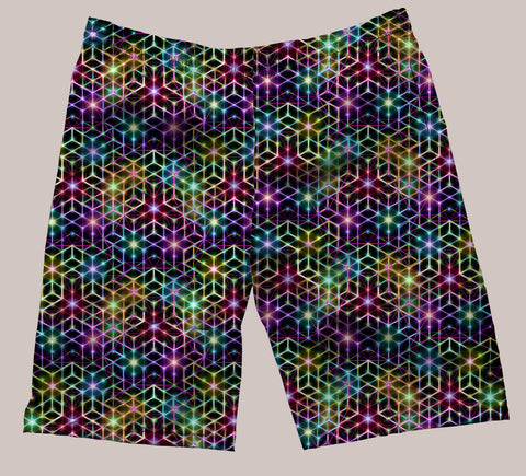 2CB Festi-Go Shorts - Tetramode® | Psy Styles. Men & Womens Psychedelic Tops & Bottoms
