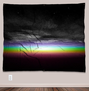Edge of Effulgence Psychedelic UV-Reactive Tapestry (60x50in) - Tetramode® | Psy Styles. Men & Womens Psychedelic Tops & Bottoms
