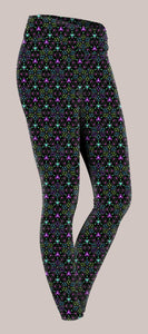 Triesselation Womens Yoga Pants - Tetramode® | Psy Styles. Men & Womens Psychedelic Tops & Bottoms