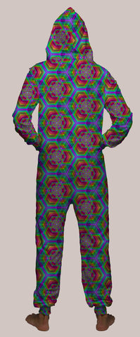 Hexafun Hooded Younique Onesie - Tetramode® | Psy Styles. Men & Womens Psychedelic Tops & Bottoms