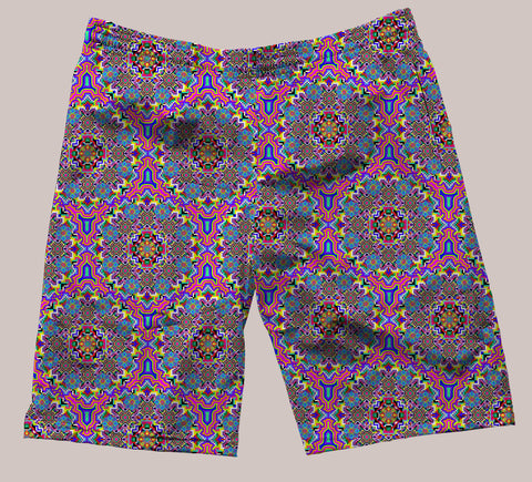 8-Bit Trip Festi-Go Shorts - Tetramode® | Psy Styles. Men & Womens Psychedelic Tops & Bottoms
