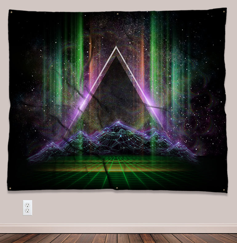 Apex Psychedelic UV-Reactive Tapestry (50x60in) - Tetramode® | Psy Styles. Men & Womens Psychedelic Tops & Bottoms