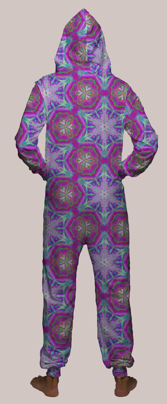 Entheoelectric Hooded Younique Onesie - Tetramode® | Psy Styles. Men & Womens Psychedelic Tops & Bottoms