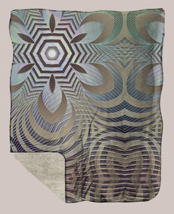 Incipient ◊ Sherpa Retreat Blanket - Tetramode® | Psy Styles. Men & Womens Psychedelic Tops & Bottoms