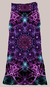 Psychedelic Breathable & Flowy Nucleus Synergy Skirt Purple Blue Orange Mandala Electric